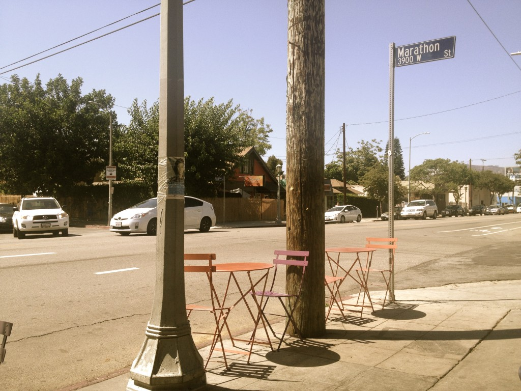Outdoor seating for a sunny LA day.