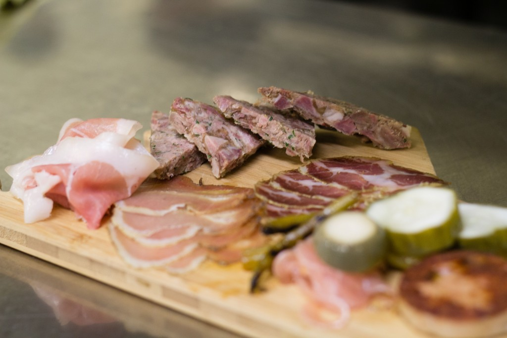 Cured meats and house-made pickles.