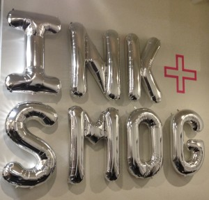 I loved Ink + Smog's balloon signage.