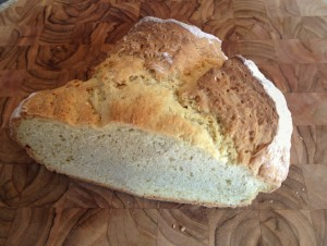 Leftover homemade soda bread